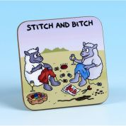 Vanessa Bee Stitch and Bitch Sewing Coaster