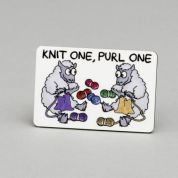Vanessa Bee Knit One Purl One Knitters Fridge Magnet