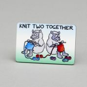 Vanessa Bee Knit Two Together Knitters Fridge Magnet