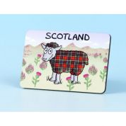 Vanessa Bee Tartan Sheep Fridge Magnet