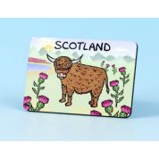 Vanessa Bee Highland Cow Fridge Magnet
