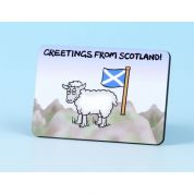 Vanessa Bee Greetings from Scotland Fridge Magnet