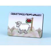 Vanessa Bee Greetings from Wales Fridge Magnet