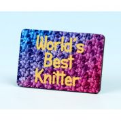 Vanessa Bee Worlds Best Knitter Knitters Fridge Magnet