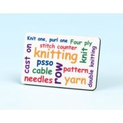 Vanessa Bee Knitting Words Knitters Fridge Magnet