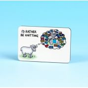 Vanessa Bee Id Rather be Knitting Knitters Fridge Magnet