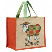 Vanessa Bee Tartan Sheep Jute Bag
