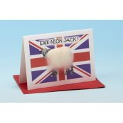 Vanessa Bee Ewe Nion Jack Greeting Card