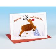 Vanessa Bee Reindeer Christmas Greeting Card