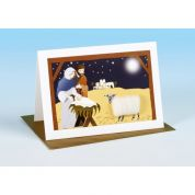 Vanessa Bee Nativity Scene Christmas Greeting Card