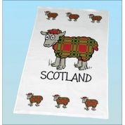 Vanessa Bee Tartan Sheep Tea Towel