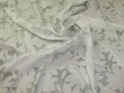 Burn Out Voile Fabric  Ivory