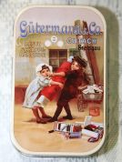 Gutermann Vintage Design Collectable Tin with 4 Sewing Threads
