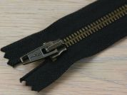 Clearance Brass Metal Closed End Zips 66cm  Black