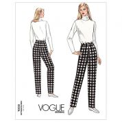 Vogue Ladies Easy Sewing Pattern 1003 Tapered Pants Fitting Shell