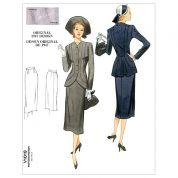 Vogue Ladies Sewing Pattern 1019 Vintage Style Jacket & Skirt