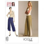 Vogue Ladies Easy Sewing Pattern 1050 Trouser Pants with Side Panel