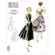 Vogue Ladies Sewing Pattern 1084 Vintage Style Flared Dresses
