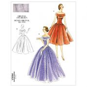 Vogue Ladies Sewing Pattern 1094 Vintage Style Off Shoulder Dresses