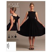 Vogue Ladies Easy Sewing Pattern 1102 Dress with Back Bow Detail