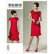 Vogue Ladies Easy Sewing Pattern 1208 Dress with Shoulder Detail