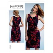 Vogue Ladies Easy Sewing Pattern 1303 Fitted Dress with Pleated Front