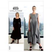 Vogue Ladies Easy Sewing Pattern 1312 Dresses with Full Skirt