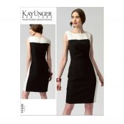 Vogue Ladies Easy Sewing Pattern 1329 Colour Block Panelled Dress
