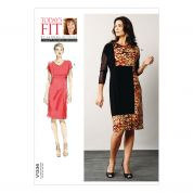 Vogue Ladies Easy Sewing Pattern 1336 Colour Block Dress
