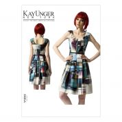 Vogue Ladies Easy Sewing Pattern 1353 Dress with Pleats