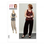 Vogue Ladies Easy Sewing Pattern 1355 Top & Inside Leg Drape Pants