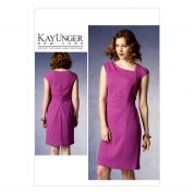 Vogue Ladies Sewing Pattern 1369 Asymmetric Fitted Dress