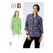 Vogue Ladies Easy Sewing Pattern 1385 Blouse Tops