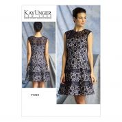 Vogue Ladies Sewing Pattern 1393 Tiered Skirt Dress