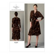Vogue Ladies Sewing Pattern 1405 Mock Wrap Knitted Dress