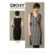 Vogue Ladies Sewing Pattern 1407 Knit Dress with Front Seam Detail
