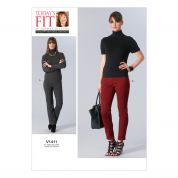 Vogue Ladies Sewing Pattern 1411 Close Fitting Panelled Pants