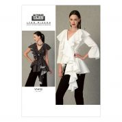 Vogue Ladies Sewing Pattern 1413 Peplum Tops with Ruffles