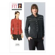 Vogue Ladies Sewing Pattern 1418 Semi-Fitted Lined Jackets