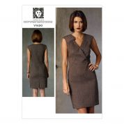 Vogue Ladies Sewing Pattern 1420 Lined Close Fitting Dress