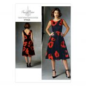 Vogue Ladies Sewing Pattern 1422 Lined Dress with Fitted Bodice
