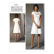 Vogue Ladies Sewing Pattern 1423 Lined Dress with Cutwork Detail