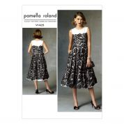 Vogue Ladies Sewing Pattern 1425 Lined Pleated-Skirt Dress