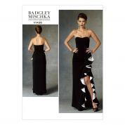 Vogue Ladies Sewing Pattern 1426 Full Length Evening Dress with Ruffles
