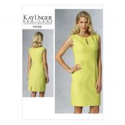 Vogue Ladies Sewing Pattern 1432 Panelled Lined Dress