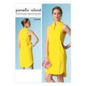 Vogue Ladies Easy Sewing Pattern 1445 High Neckline Lined Loose Fit Dress