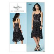 Vogue Ladies Sewing Pattern 1447 Lined Dress with Panelled Bodice