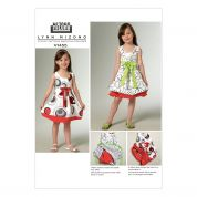 Vogue Girls Easy Sewing Pattern 1455 Reversible Dress with Front Bow