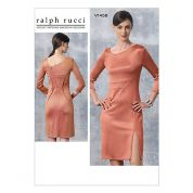 Vogue Ladies Sewing Pattern 1458 Fitted Dress with Shaped Neckline & Split