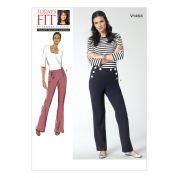 Vogue Ladies Sewing Pattern 1464 Fitted Slightly Tapered Trouser Pants